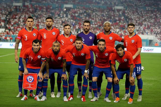 Formación de Chile ante Perú, amistoso disputado el 12 de octubre de 2018