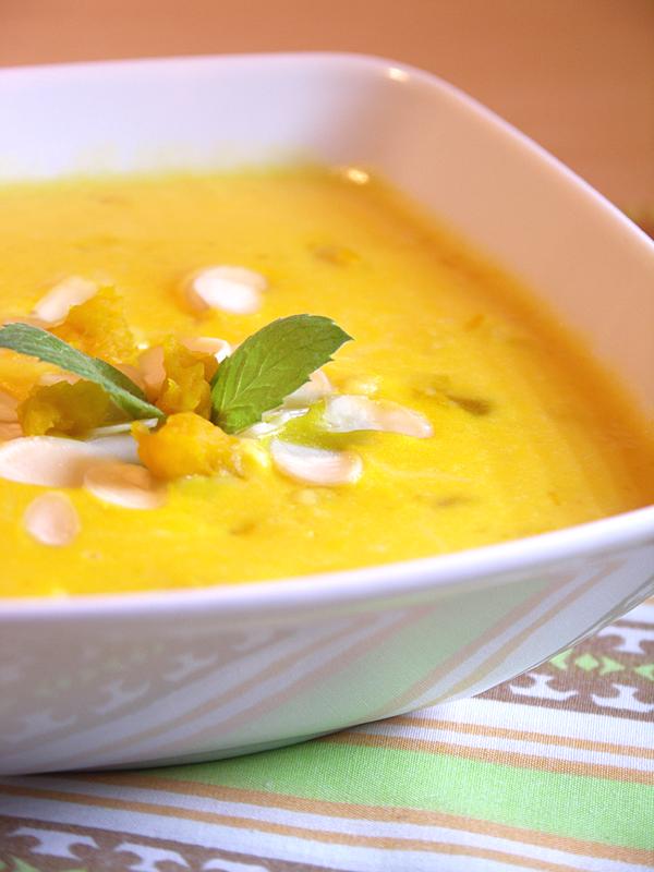 zupa mleczna z zacierkami i dynią