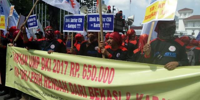 Aneh, Buruh yang Demo di Balai Kota dari Luar Jakarta, Kenapa Minta Naik Upah ke Ahok?