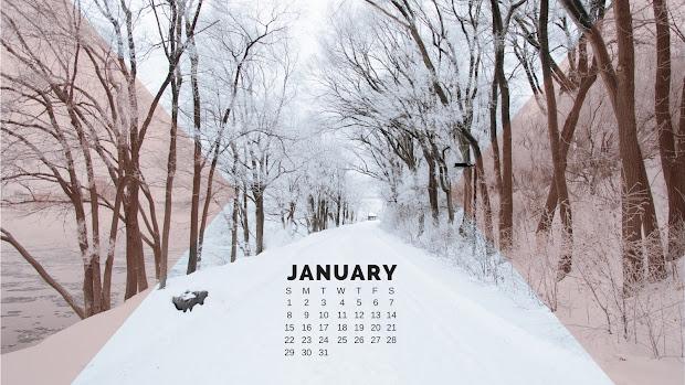 January 2017 Desktop Calendar Joy