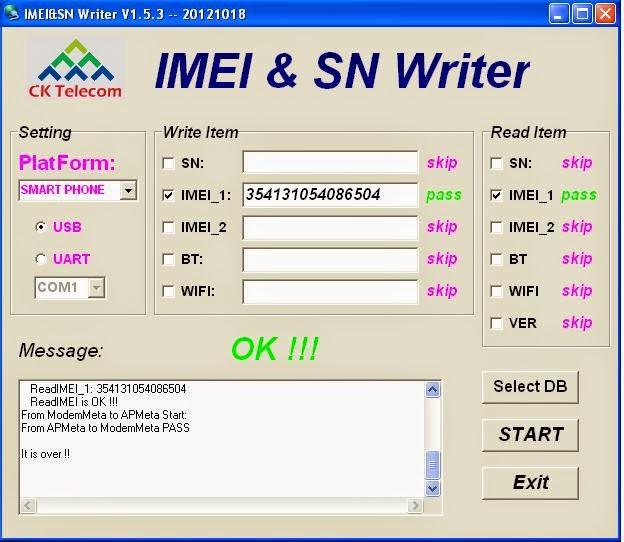 IMEI-SN Writer Tool & DB file Download - KHUSHI TELECOM