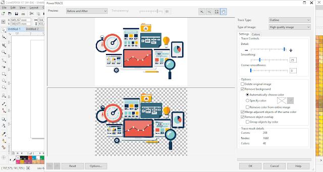 Cara Membuat Gambar Postingan Dengan CorelDraw - Cara Membuat Gambar Menjadi Halus atau Smooth di CorelDraw