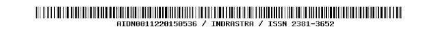 AIDN0011220150536 / INDRASTRA / ISSN 2381-3652