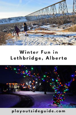 Winter fun in Lethbridge, Alberta - Pinterest pin