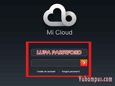 mengatasi akun mi cloud lupa password