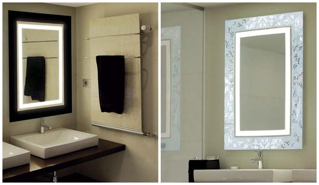 Marzua espejos con luz para el cuarto de ba o - Espejos para banos leroy merlin ...