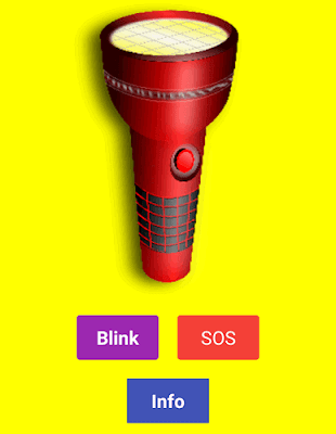 Torcia luminosa (app android)