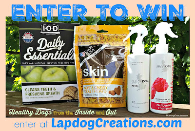 Giveaway of Isle of Dogs treats and grooming products