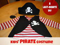 DIY kids pirate costume for Halloween