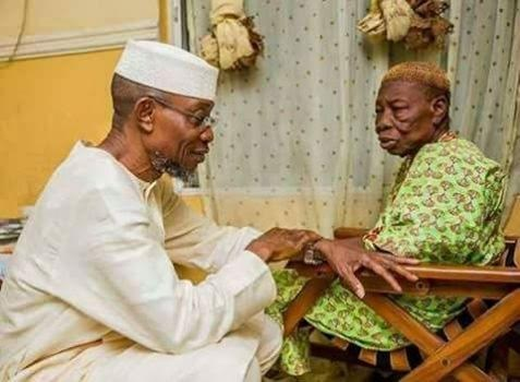 rauf aregbesola and mother