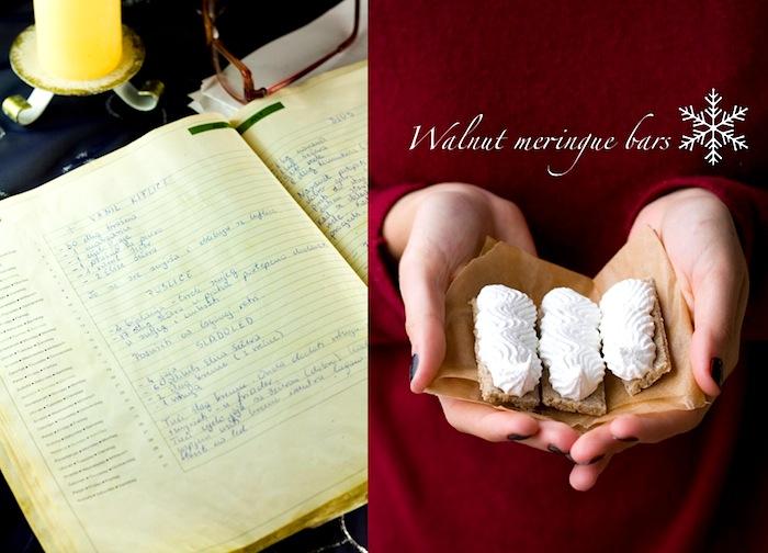 walnut meringue bars recipe for christmas treats in croatia