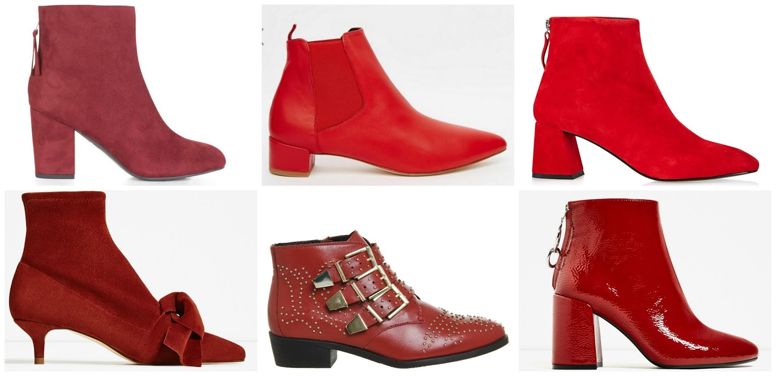 Trending Red Ankle Boots Sarah Rose Goes