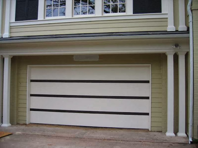 how to decor wood garage door