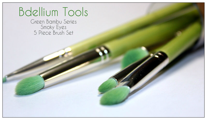 Review: Bdellium Tools, Green Bambu Series, Smoky Eyes, 5 Piece Brush Set