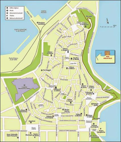 Plan de la vieille ville de Bari