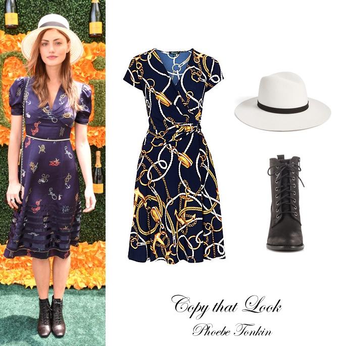 Phoebe Tonkin Nautical Style Dress