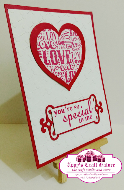 You're So Special To Me Cards........ !!