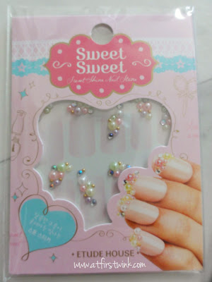 Etude House Sweet Shine nail stickers pastel pearls
