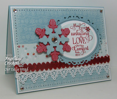 "ODBD ""Small Snowflake Background"", ""Sparkling Snowflakes"", ""Snowflake Sentiments"", ""Snowflakes"" Die Set, Designer Angie Crockett"