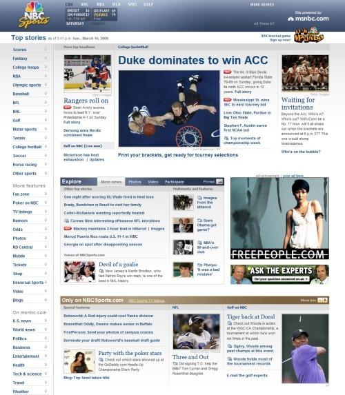 thiết kế trang web thể thao