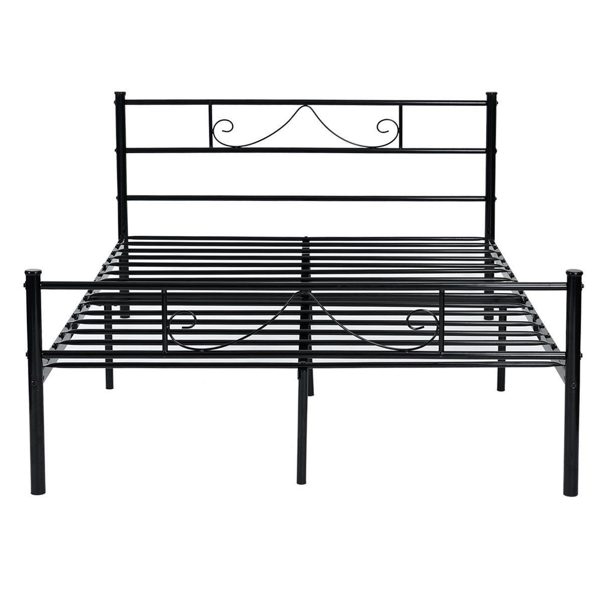 Metal Bed Frame Size 3ft Single 4ft6 Double Bed Solid