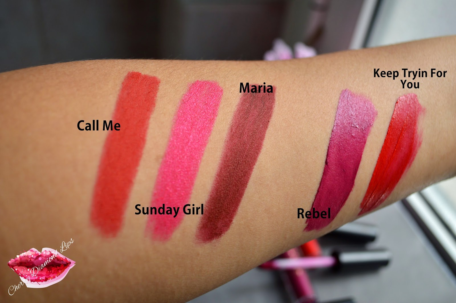 Swatches of The Wow Stick and Salvation Lacque by Mur