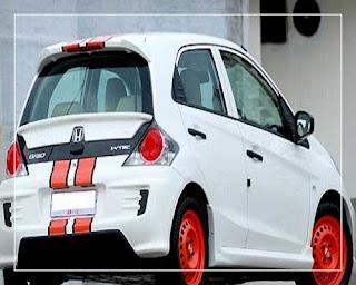 modifikasi mobil honda brio putih