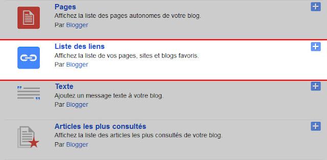 gadgets à votre blog blogger