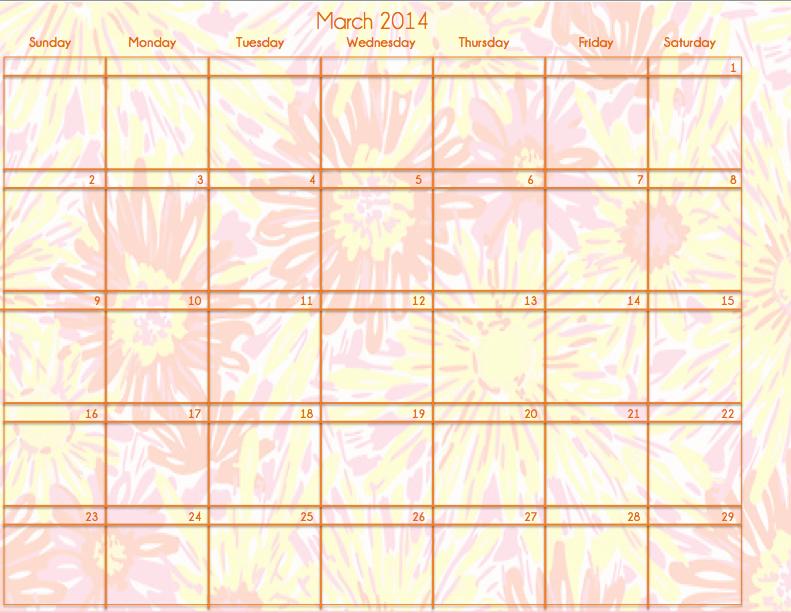 March Lilly Pulitzer Calendar Prep Essentials
