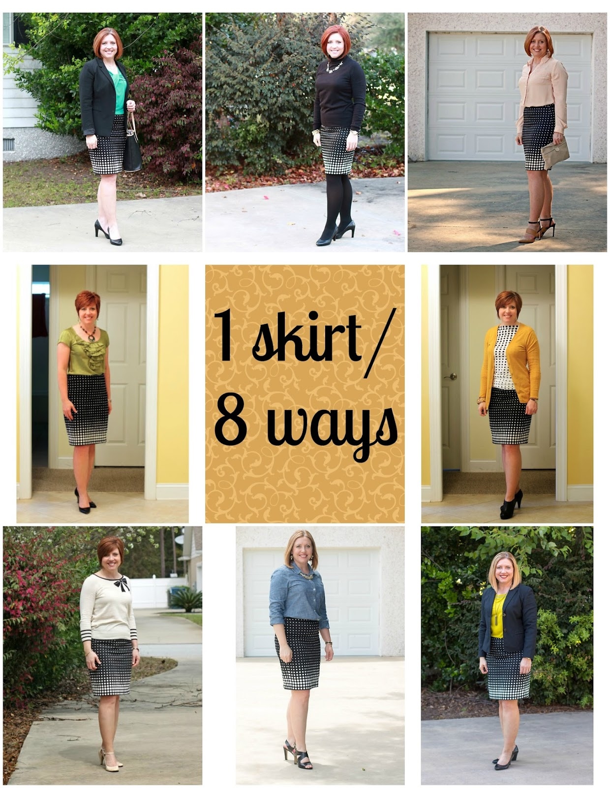 How to style one skirt 8 ways