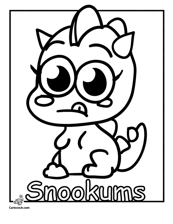 Moshi monsters moshling snookums colouring pages for Moshi monsters coloring pages