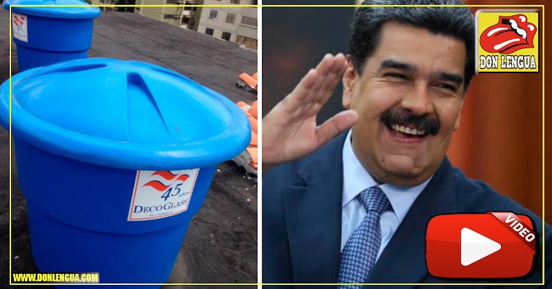 Maduro prometió VENDERLE al pueblo tanques azules de agua
