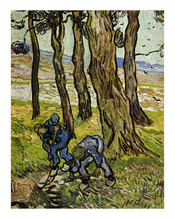 two men digging van gogh painting