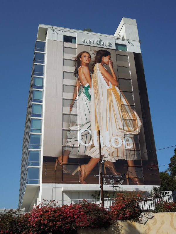 Huge Chloe fashion billboard