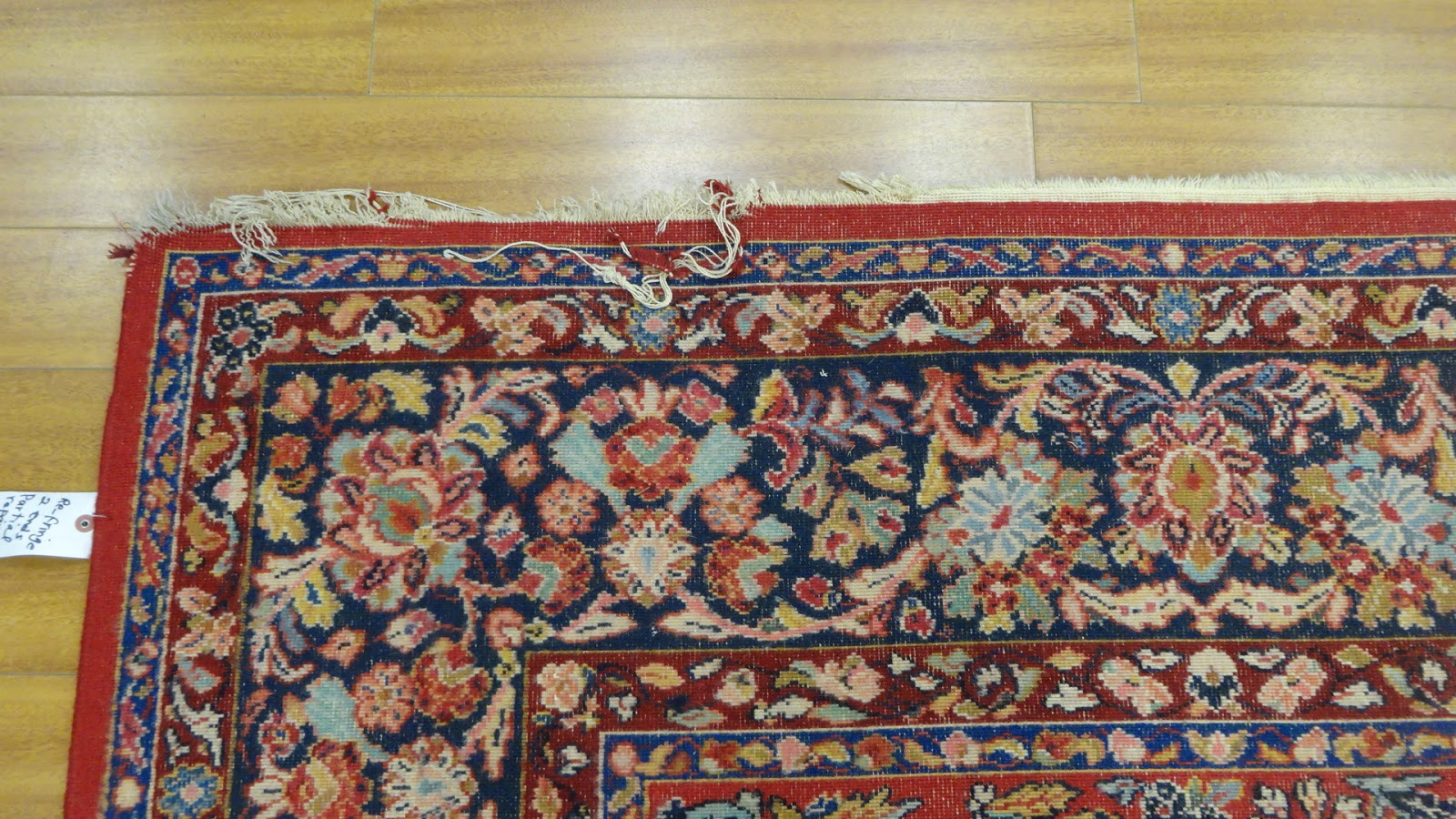 "A while ago, we received a Karastan rug of 8' 8"" x 12'. This rug was water  damaged and then left without being taken care off in storage for a long  time."