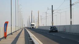 Circulaţie întreruptă temporar pe podul Calafat - Vidin
