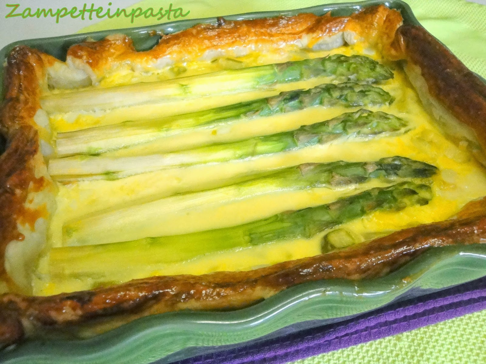 Quiche di asparagi - Torta salata con asparagi