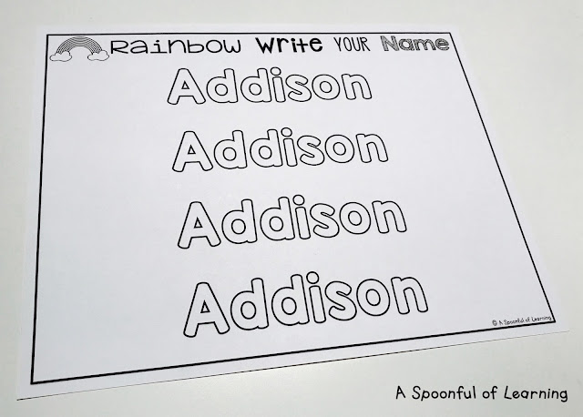 Rainbow Writing 1