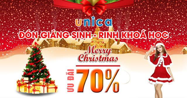 Học viện Unica giảm giá lên tới 70% các khóa học Online