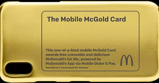 McDonald's Is Giving Away A 24-Carat McGold Card & It Will Get You Free Food For 50 Years