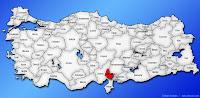 Osmaniye ilinin Türkiye haritasında gösterimi