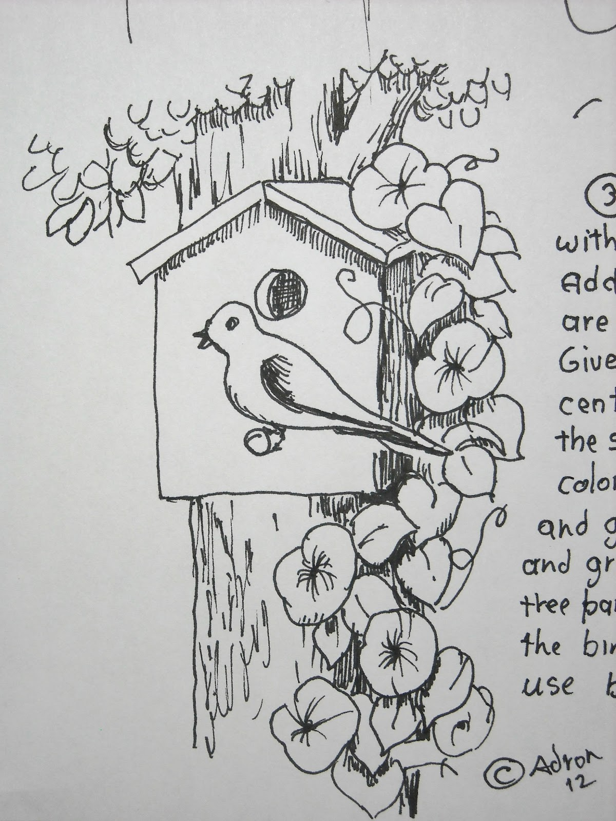 How To Draw Worksheets For The Young Artist How To Draw A Birdhouse Project And Worksheet
