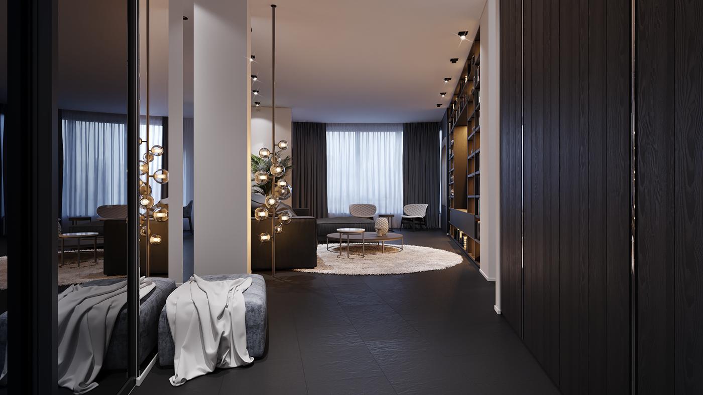 Salon elegante y moderno