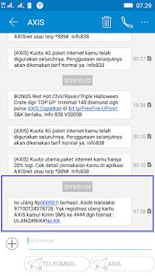 Bukti Pembayaran Pulsa Gratis Axis Terbaru dari Aplikasi Akulaku