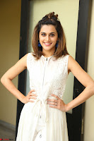 Taapsee Pannu in cream Sleeveless Kurti and Leggings at interview about Anando hma ~  Exclusive Celebrities Galleries 054.JPG