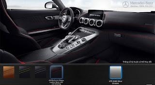 Nội thất Mercedes AMG GT S 2019 màu Đen Leather chỉ Đỏ 631