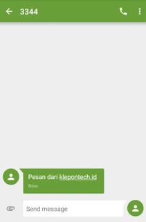 cara mengirim sms ke emulator android