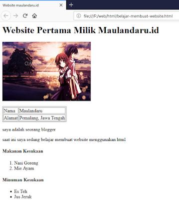 Belajar Dasar HTML Lengkap untuk Pemula