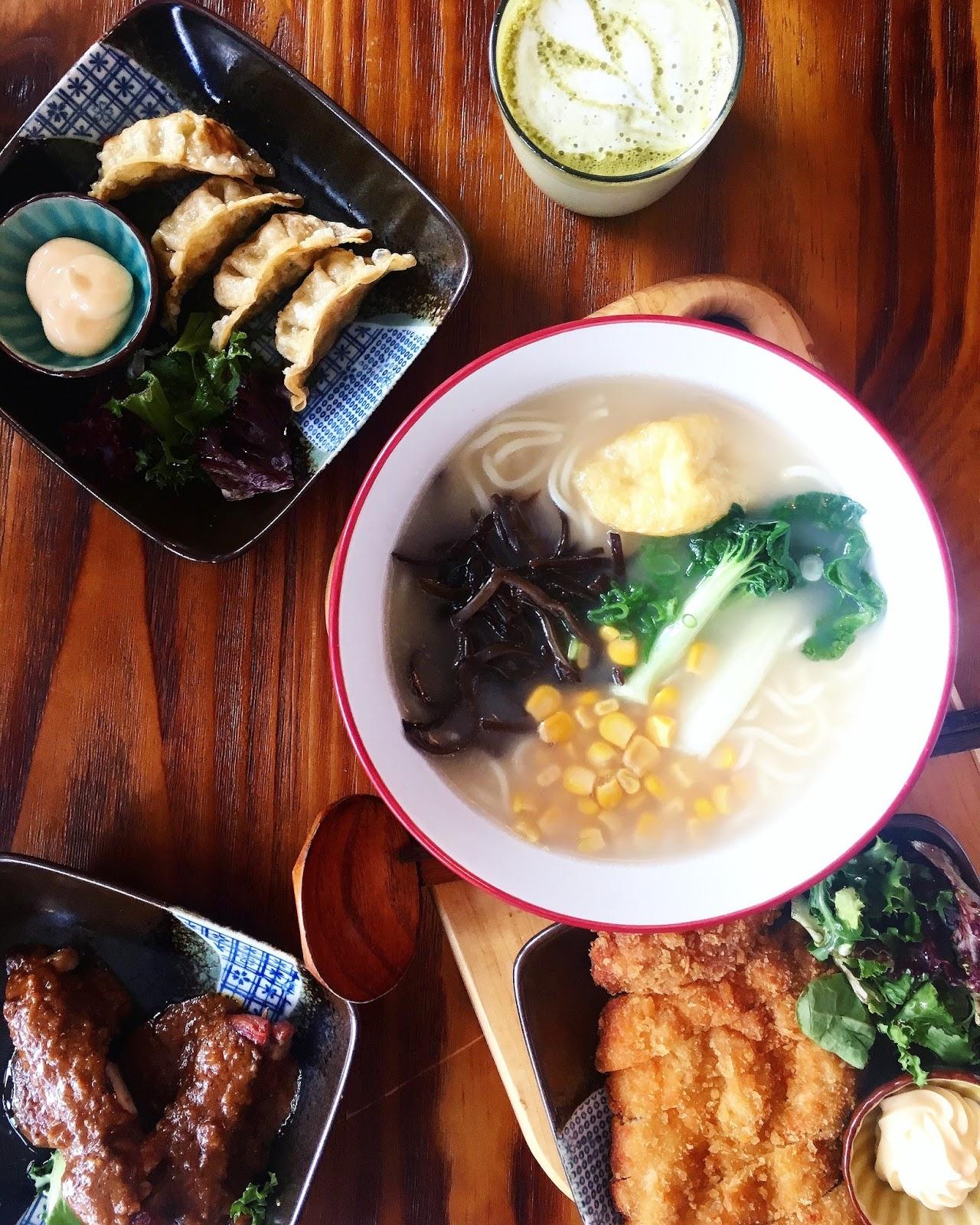 chicken satay skewers katsu noodle soup
