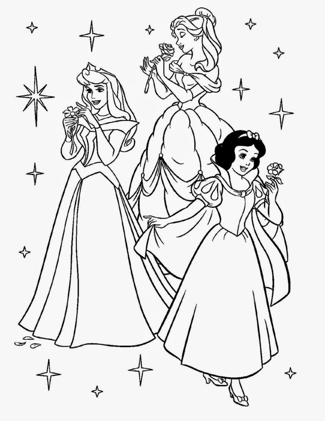 - Free Coloring Pictures: Princess Coloring Pictures